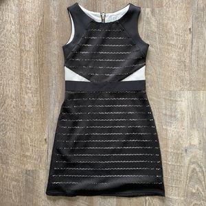 Blush Black Laser Cut Dress